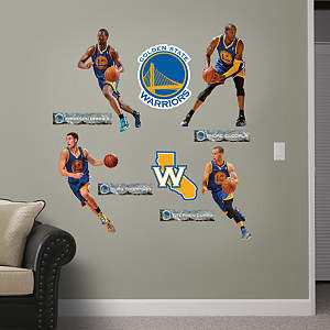Golden State Warriors Power Pack Fathead Wall Decal